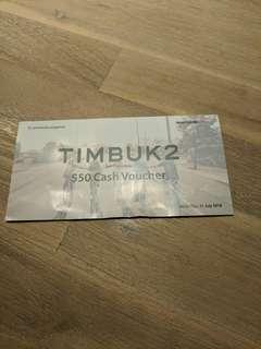 Timbuk2 $50 voucher, no min spend