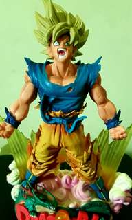Dragon ball z : son goku diorama - the brush -