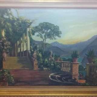 Vintage oil on canvas