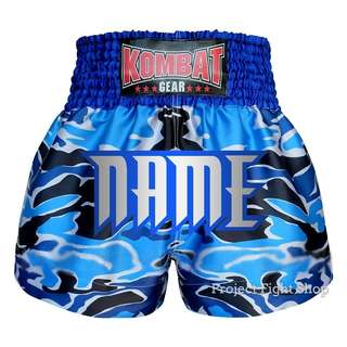 Customize Kombat Gear Muay Thai Boxing MMA Shorts Blue Camouflage