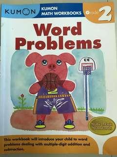 Kumon book- word problems