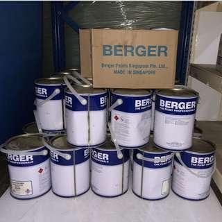 EPOXY WHITE PAINT PACK BERGER 35x (4L base + 1L hardener)