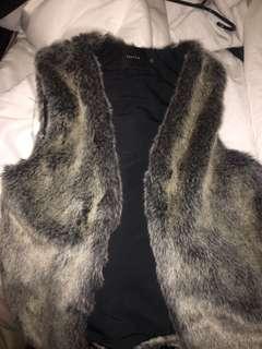 Talula real fur vest