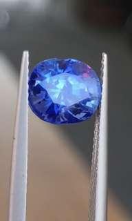 3.03ct unheated Maymmar cornflower blue sapphire