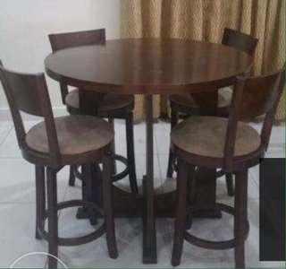 bar height dining set