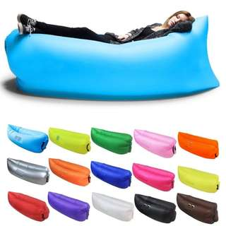 Lazy Bed Side Pocket Outdoor Portable Inflatable Sofa Sleeping Bag