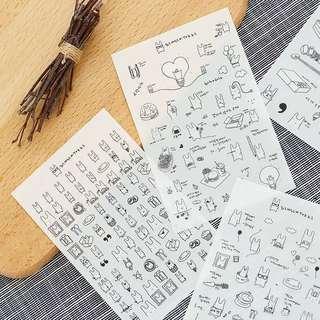 (PO) Simsim Tokki Stickers