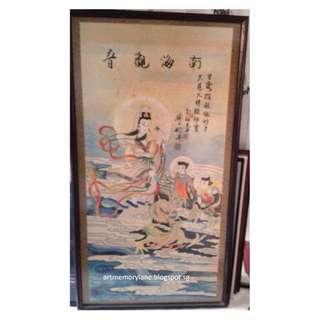 南海观音-李福来 Vintage Goddess of Mercy Painting