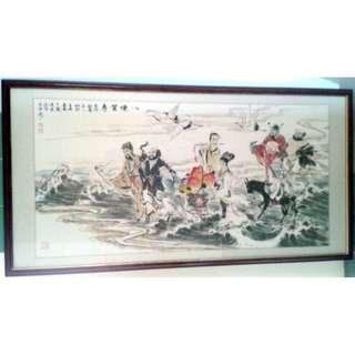 八仙贺寿 - 周广源 (周廣源)Vintage Chinese Painting