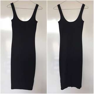 Bardot Midi Dress - Black