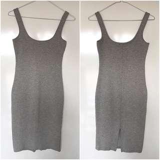 Bardot Midi Dress - Grey