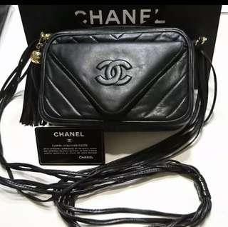 🚚 Chanel 老香流蘇皮繩相機包