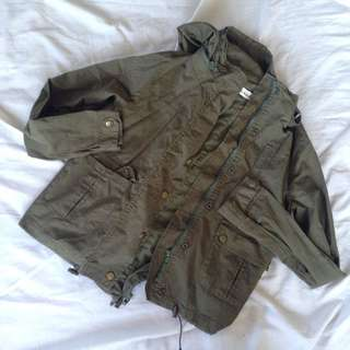 Army Green Parka (fits small to medium)