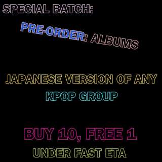 Pre-order of Japanese Version Albums
