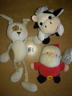 Stuffed toys 3pcs