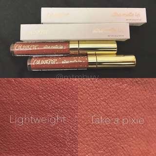Colourpop Ultra Matte Lip Bumble, Lightweight, Take A Pixie [instock]