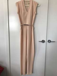 Forcast nude jumpsuit w belt - size 4