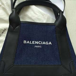 Price Reduced $980Balenziaga Denim Bag Two Way Carry