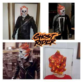 GHOST RIDER LATEX RUBBER MASK
