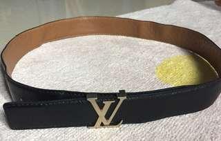 SALE! LV Logo black leather Belt