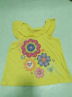 Yellow blouse 2t
