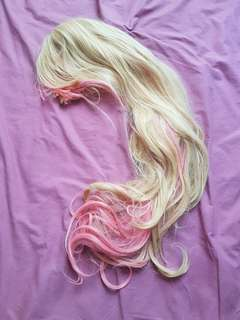 Pink and blonde lolita wig
