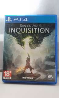 PS4 Games - Dragon Age Inquisition Blueray disc