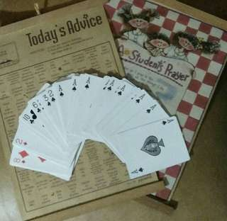 Daily Advice Wall Charts with FREE Playing Cards