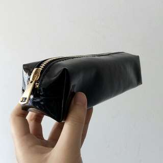 patent pencil case in black