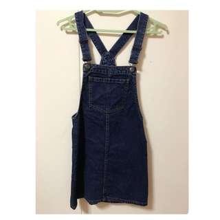 Denim Pinafore Dress Berskha $15