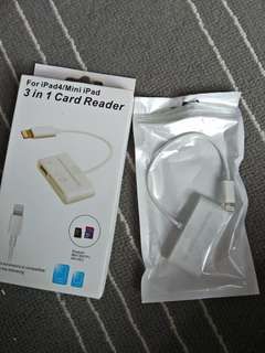Card reader for ipad/mini ipad