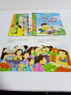 7 x English readers for nursery