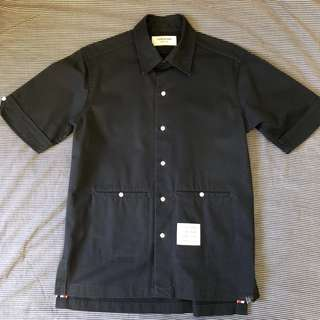 Thom Browne Navy Work Shirt