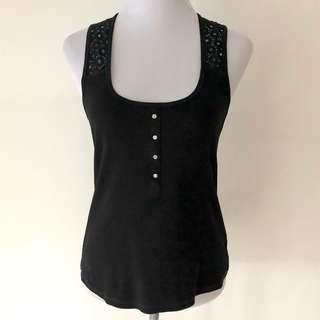 Karen Millen Black Vest Size 14