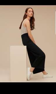 Aritzia wilfred wide leg culottes pants