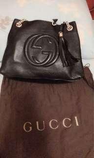 🚚 Gucci黑色全牛皮潮包