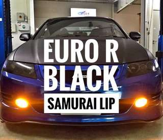 Euro R Black Samurai Lip Installed!** INSTALLATION PROVIDED!**