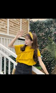 (PO) Korean style student loose chic top