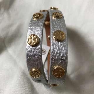 Tory Burch double-wrap logo bracelet