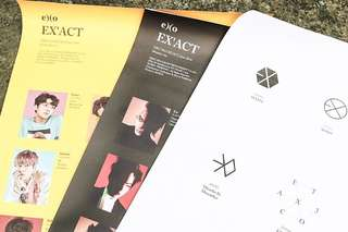 EXO Lucky One and Monster Official posters