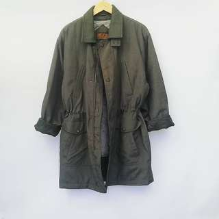 Army Green Draw String Parka
