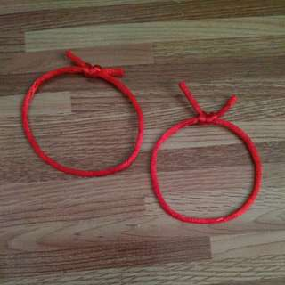 Bright Red Good Fortune Bracelet for Infants