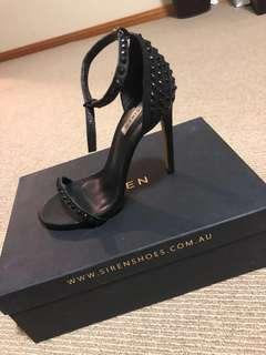 Jacinta Siren Heels Black Size 6.5 RRP $189.95
