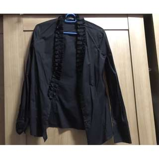 Preloved Woman, Ladies Clothings, G2000, Size 36, OL, Black Long sleeve shirt, formal, business, executive shirt, top, blouses, button  $5