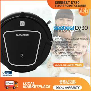 ✔FREE DELIVERY: SEEBEST D730 Robot Vacuum With Water Tank 2019 NEW