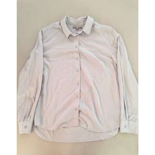 Uniqlo Grey Long Sleeves Button Down (L)