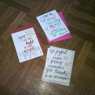 Calligraphy cards with envelope