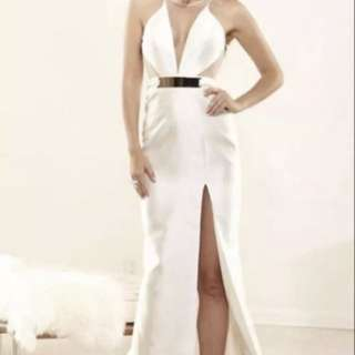 Terani Couture Formal Long White Dress Gown