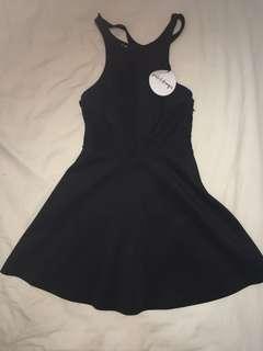 Black dress with back detailing