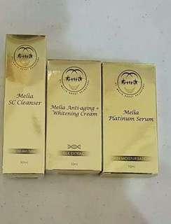 Melia Skincare (clenser, diamond serum, whitening cream)